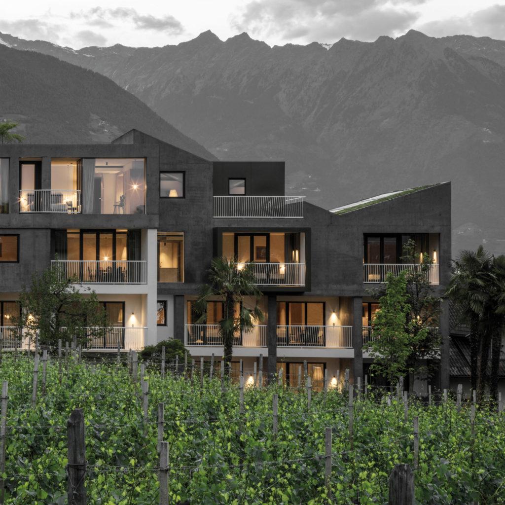Hotelbau in Lana, gebaut von der Baufirma Schweigkofler aus Südtirol.