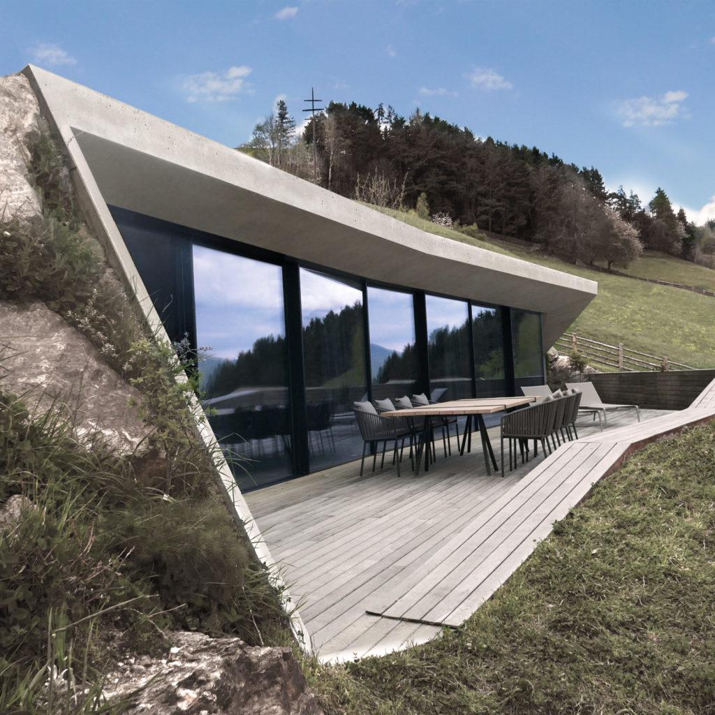 Wohnbau im Eisacktal, gebaut von der Baufirma Schweigkofler aus Südtirol.