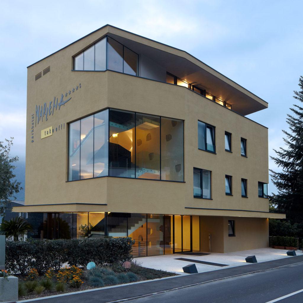 Hotelbau in Marling, gebaut von der Baufirma Schweigkofler aus Südtirol.