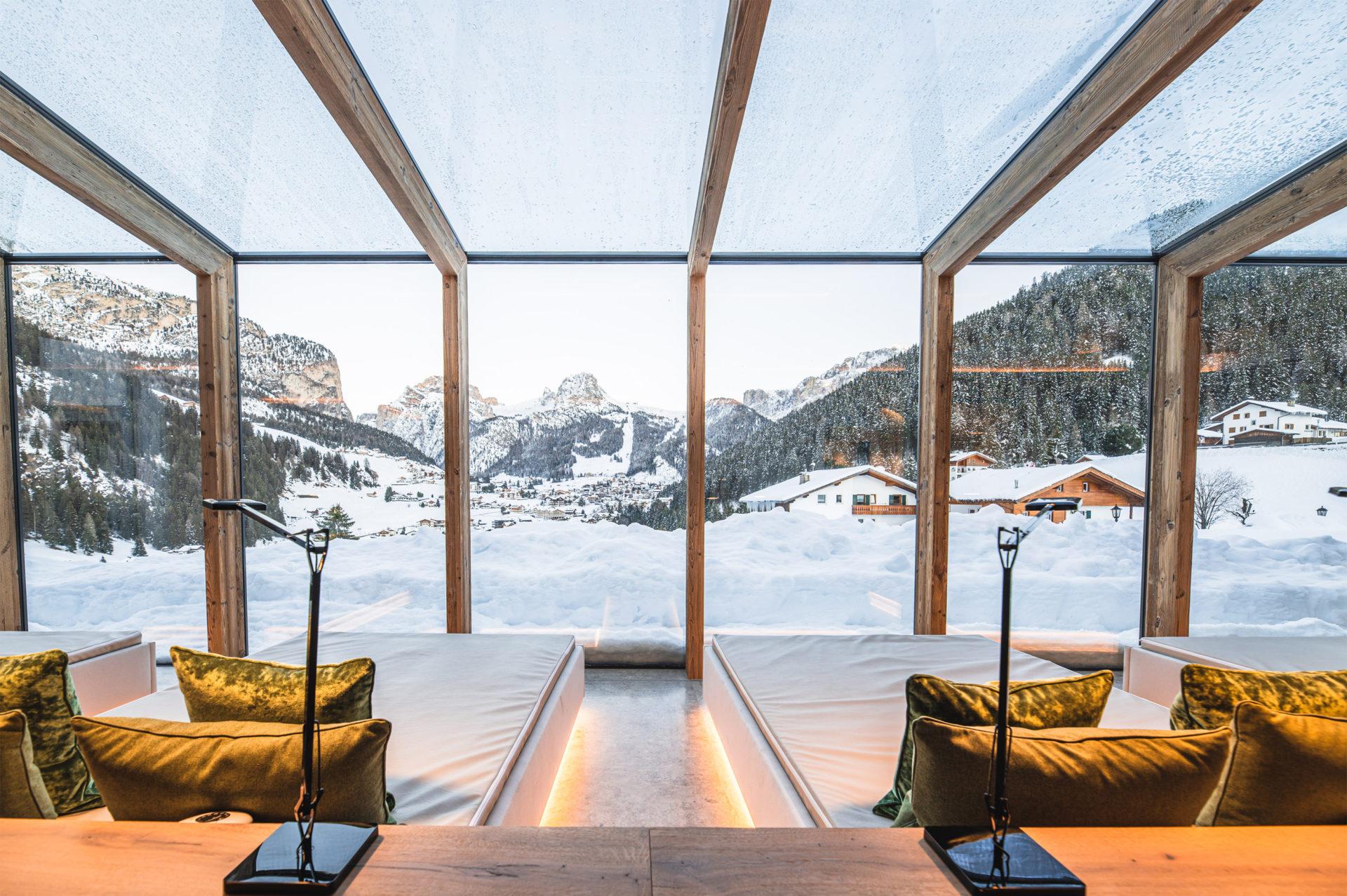 Hotelbau in Gröden, gebaut von der Baufirma Schweigkofler aus Südtirol.