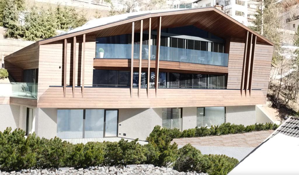 Privathaus in Gröden gebaut von der Baufirma Schweigkofler aus Südtirol